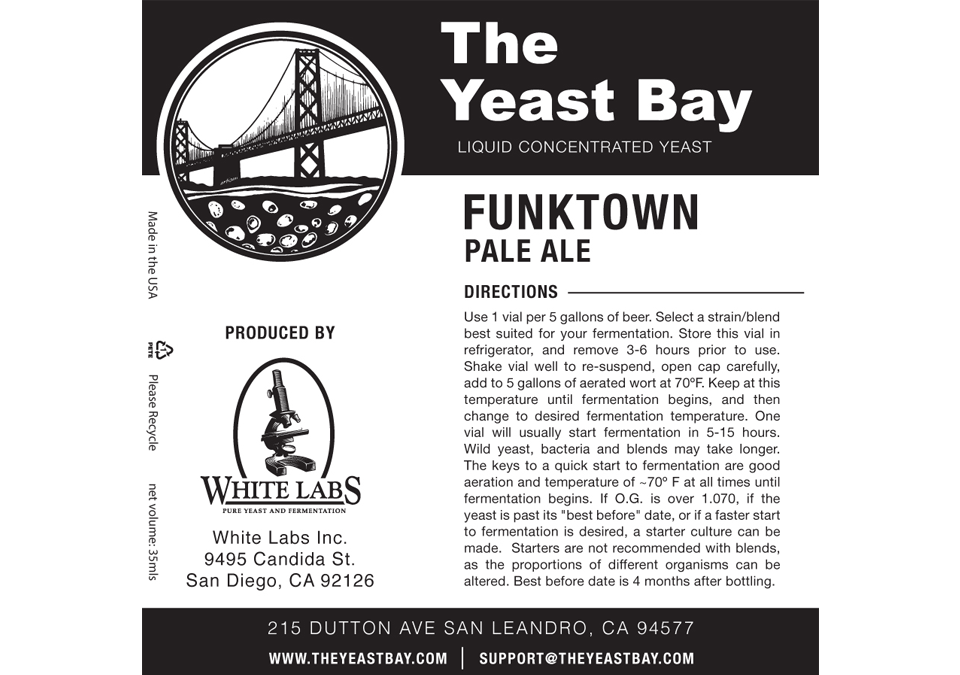The Yeast Bay Funktown Pale Ale Yeast