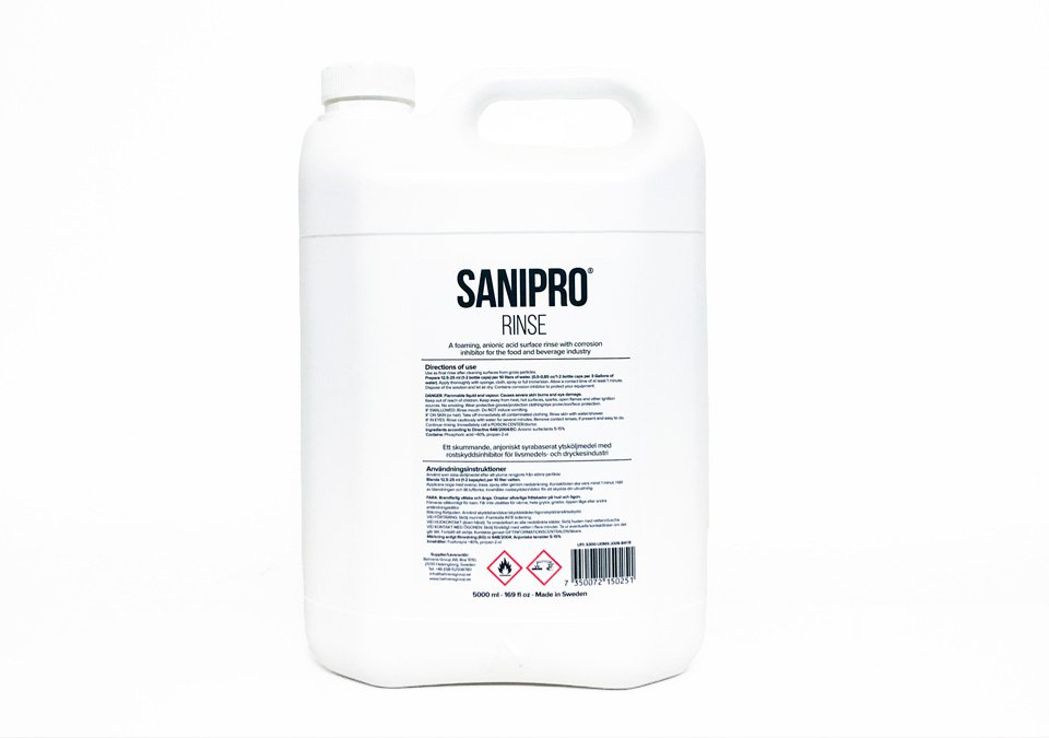 Sanipro Rinse 5000ml Sanitizer