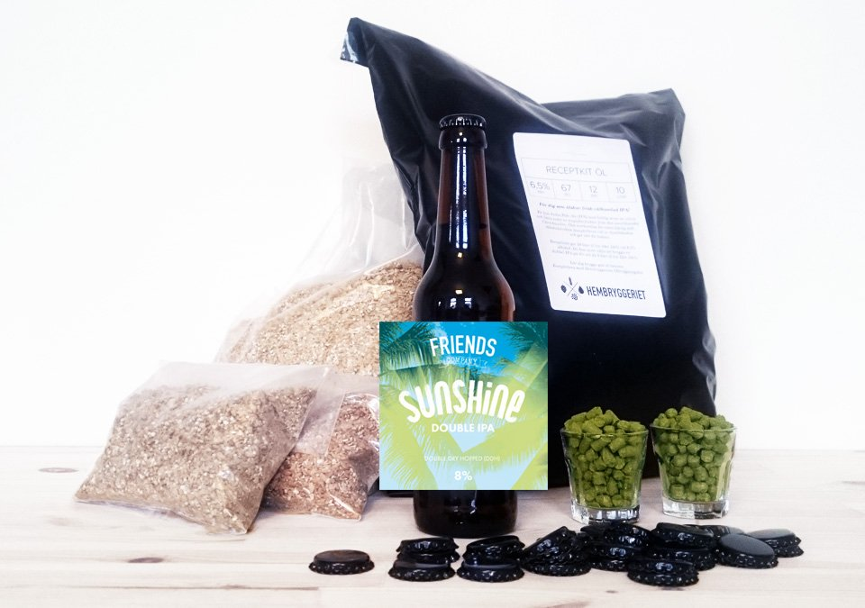 Friends Company Sunshine Double IPA 8% Recipe Kit 10L